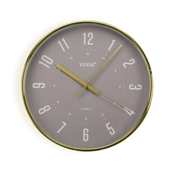 Horloge murale Chronis D30cm Or et Gris