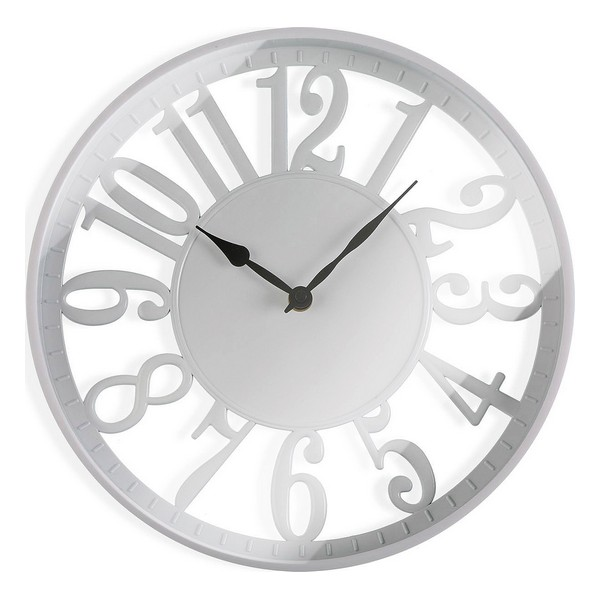 Horloge Murale Helmut D30cm Blanc