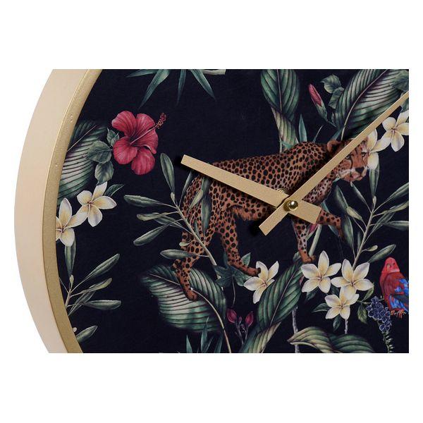 Horloge Murale Pataya D30cm Or et Motif Léopard