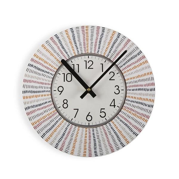 Horloge Murale Reloj D29cm Bois Multicolore