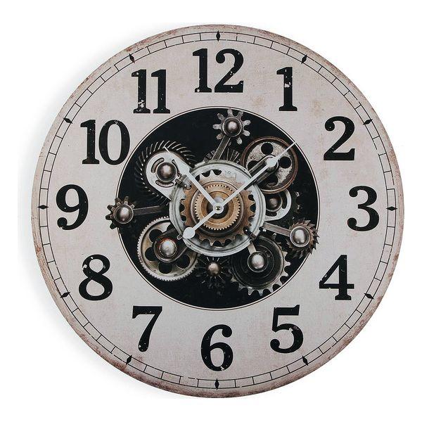 Horloge Murale Timing 58cm Noir et crème