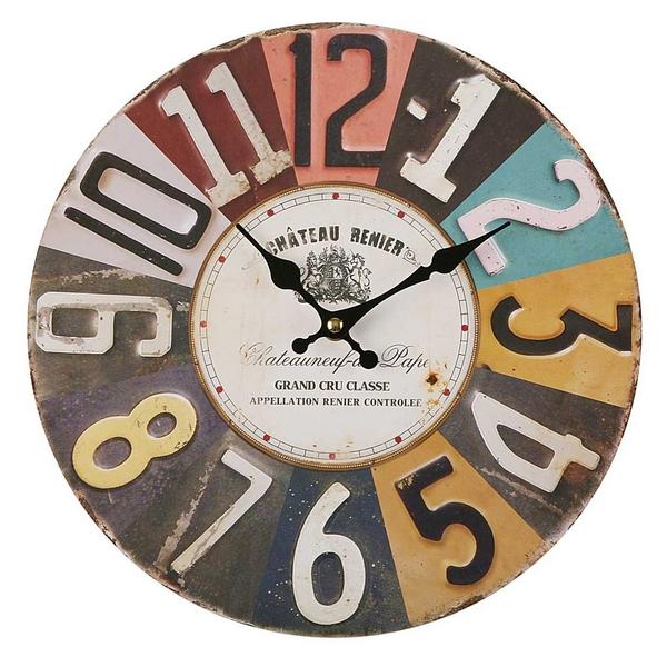 Horloge murale Tucson D30cm Métal Multicolore