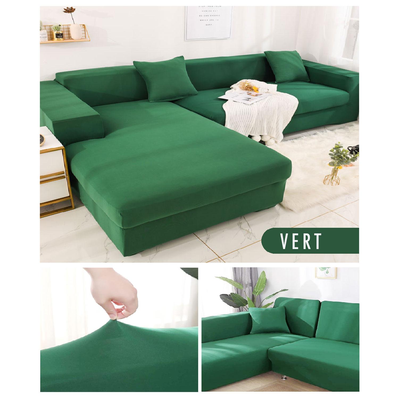 Housse de fauteuil extensible Decoprotect 1 place Vert