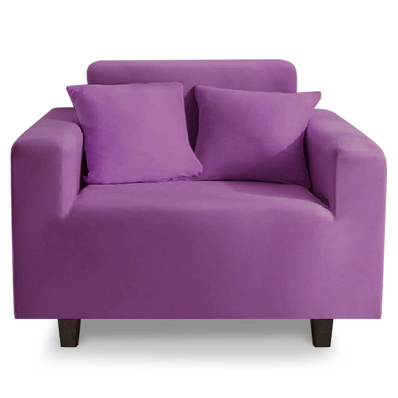Housse de fauteuil extensible Decoprotect 1 place Violet