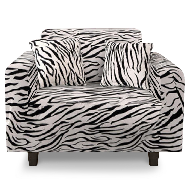 Housse de fauteuil extensible Decoprotect 1 place Zebra