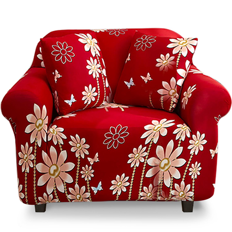 Housse de fauteuil extensible Decoprotect Fleur 1 place Alexandra