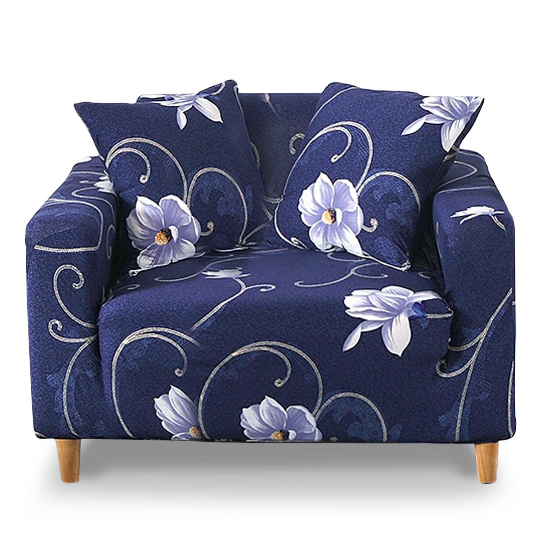 Housse de fauteuil extensible Decoprotect Fleur 1 place Alona
