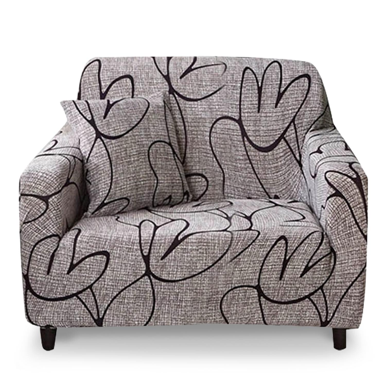 Housse de fauteuil extensible Decoprotect Fleur 1 place Angelica