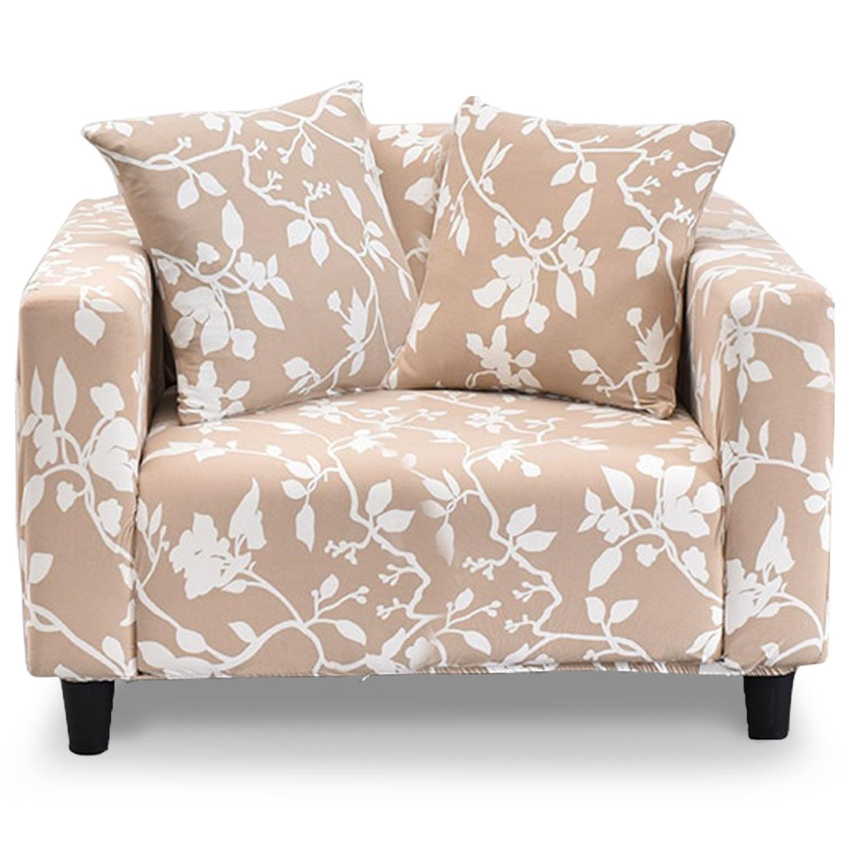 Housse de fauteuil extensible Decoprotect Fleur 1 place Neptune