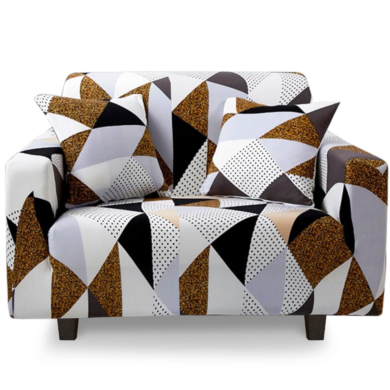 Housse de fauteuil extensible Decoprotect Géométrique 1 place Cassandra