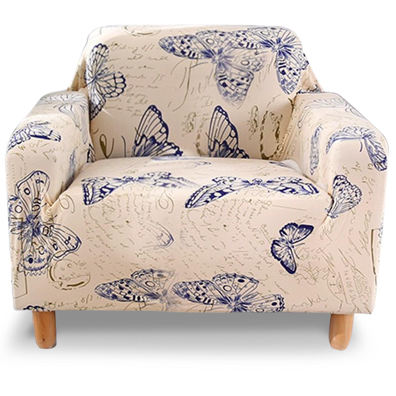 Housse de fauteuil extensible Decoprotect Nature et Animaux 1 place Anastasia