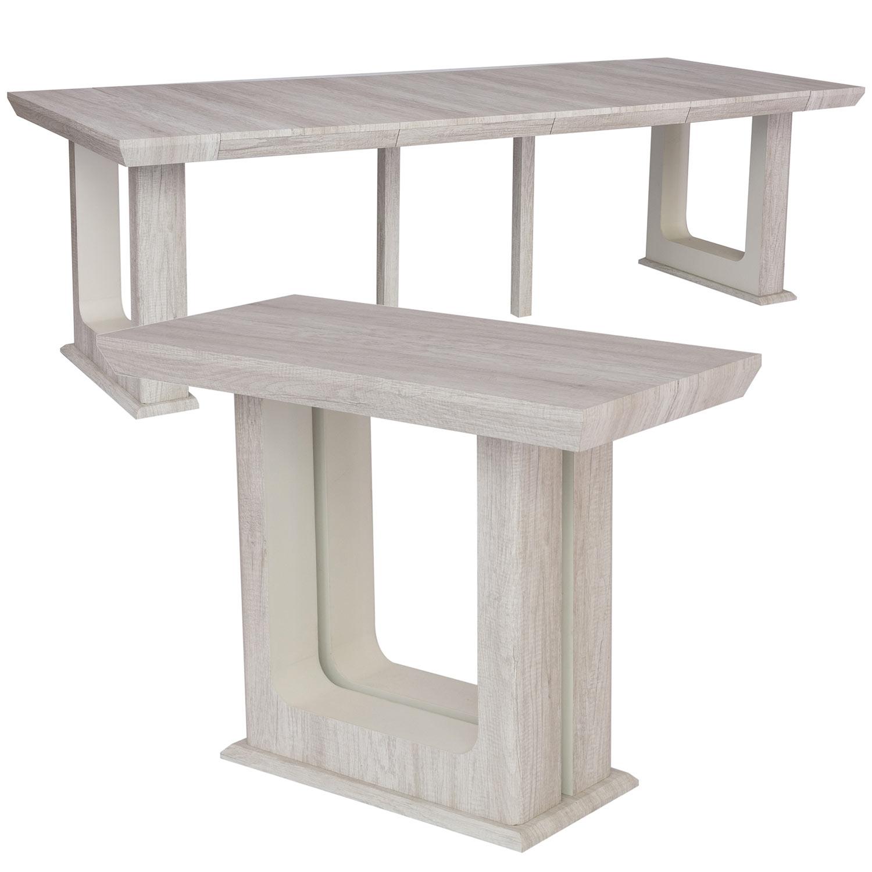 Table Console extensible 250cm Houston Chêne Blanchi