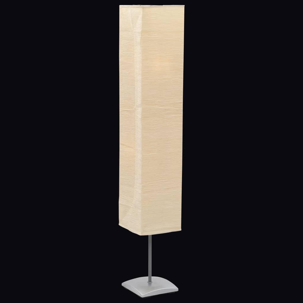 Lampadaire avec support en acier 135 cm Vuliman Beige