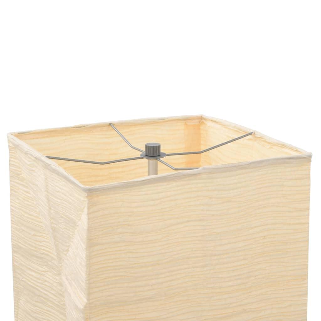 Lampadaire avec support en acier Vuliman 135cm Beige