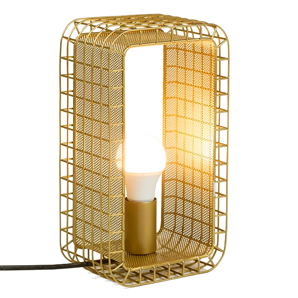 Lampe de table Cagex Métal Or