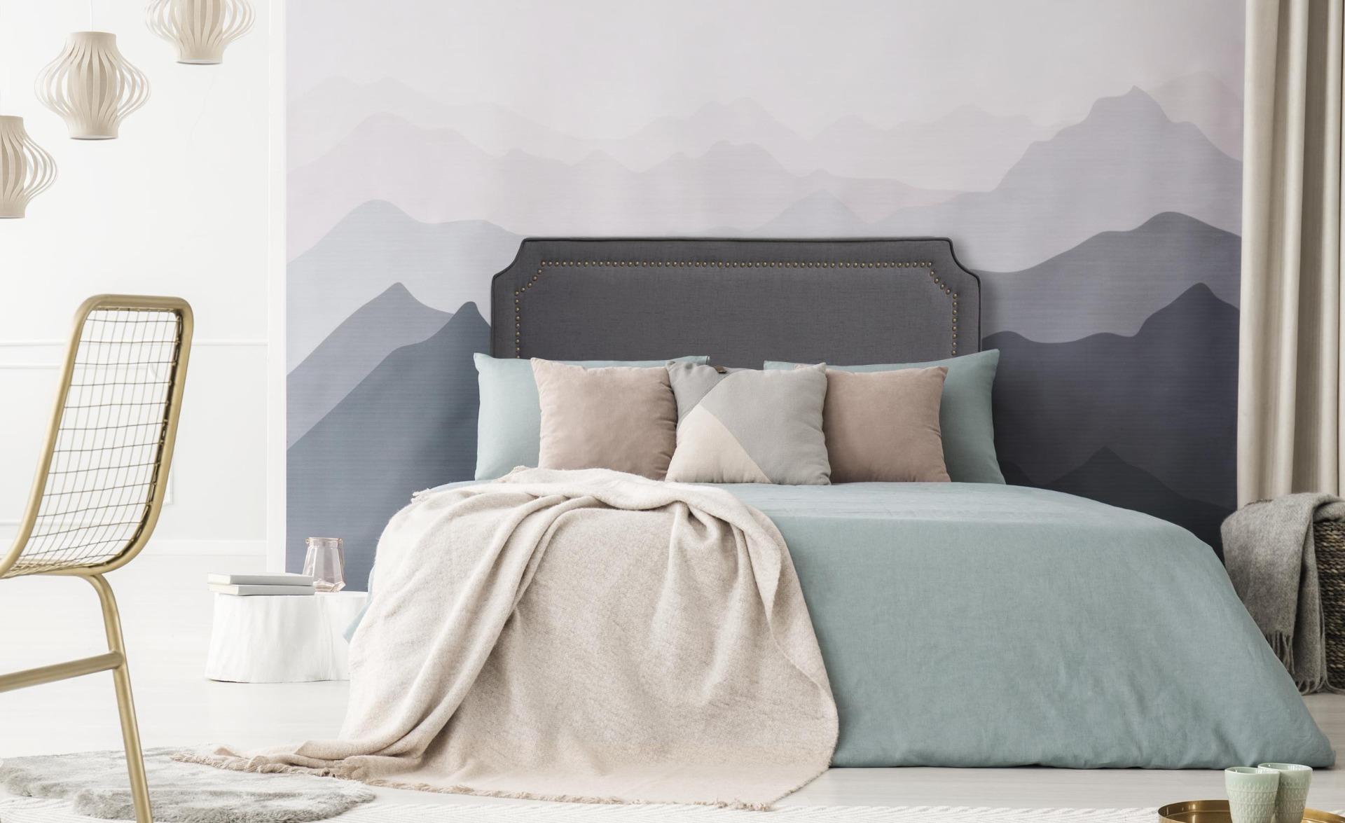 Tête de lit Milana 140cm Tissu Gris