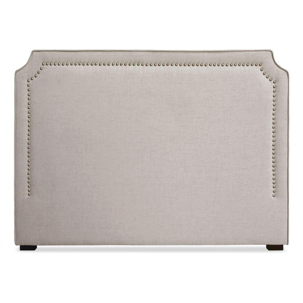 Tête de lit Milana 140cm Tissu Beige avec clous de tapissier