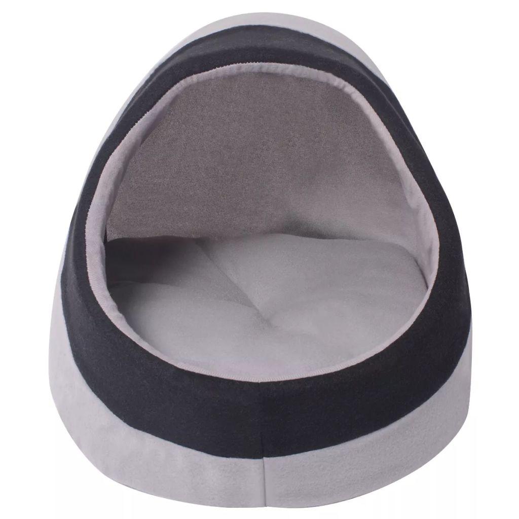 Lit pour chats Caline 30x38cm Tissu Noir et Gris