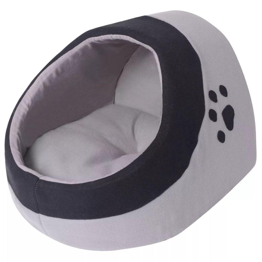 Lit pour chats Caline 34x45cm Tissu Noir et Gris