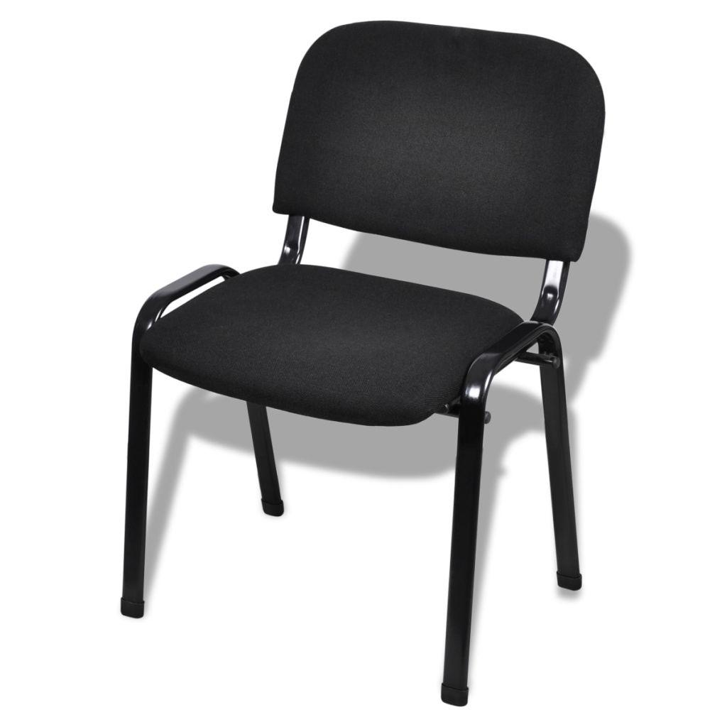 Lot de 12 Chaises de bureau empilables Blizz Tissu Noir