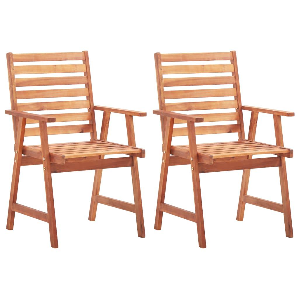 Lot de 2 chaises Bibian Bois Massif Naturel