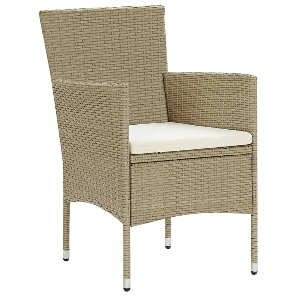 Lot de 2 chaises de jardin Abella Résine tressée Noir