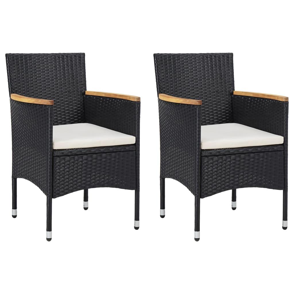 Lot de 2 chaises de jardin Abiel Résine tressée Marron