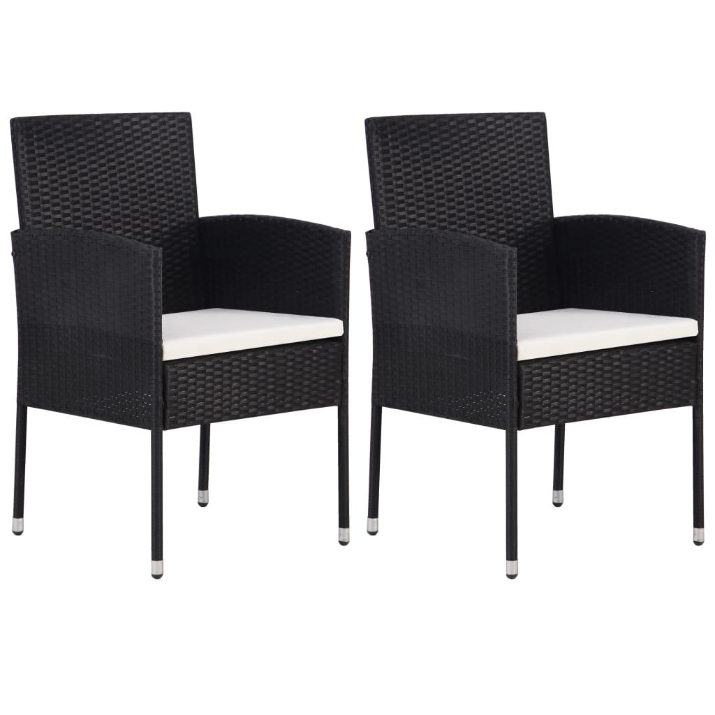 Lot de 2 chaises de jardin Cirse Résine Noir