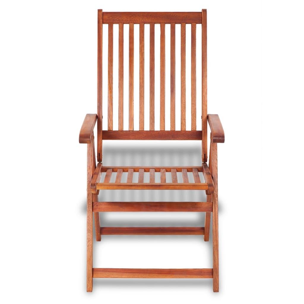 Lot de 2 chaises pliables Alanez Bois Naturel