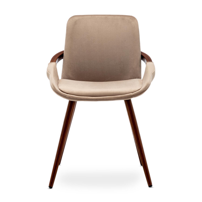 Lot de 2 chaises scandinaves Kilembe Velours Taupe