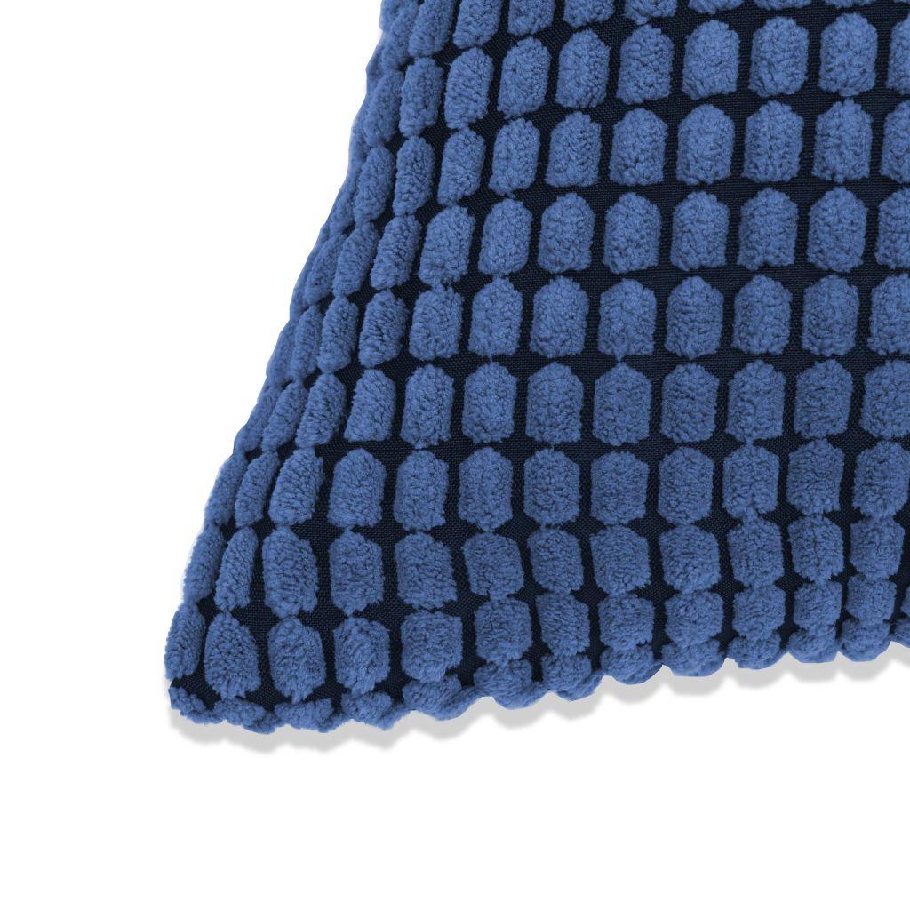 Lot de 2 coussins Gofrett Velours Bleu 45x45cm