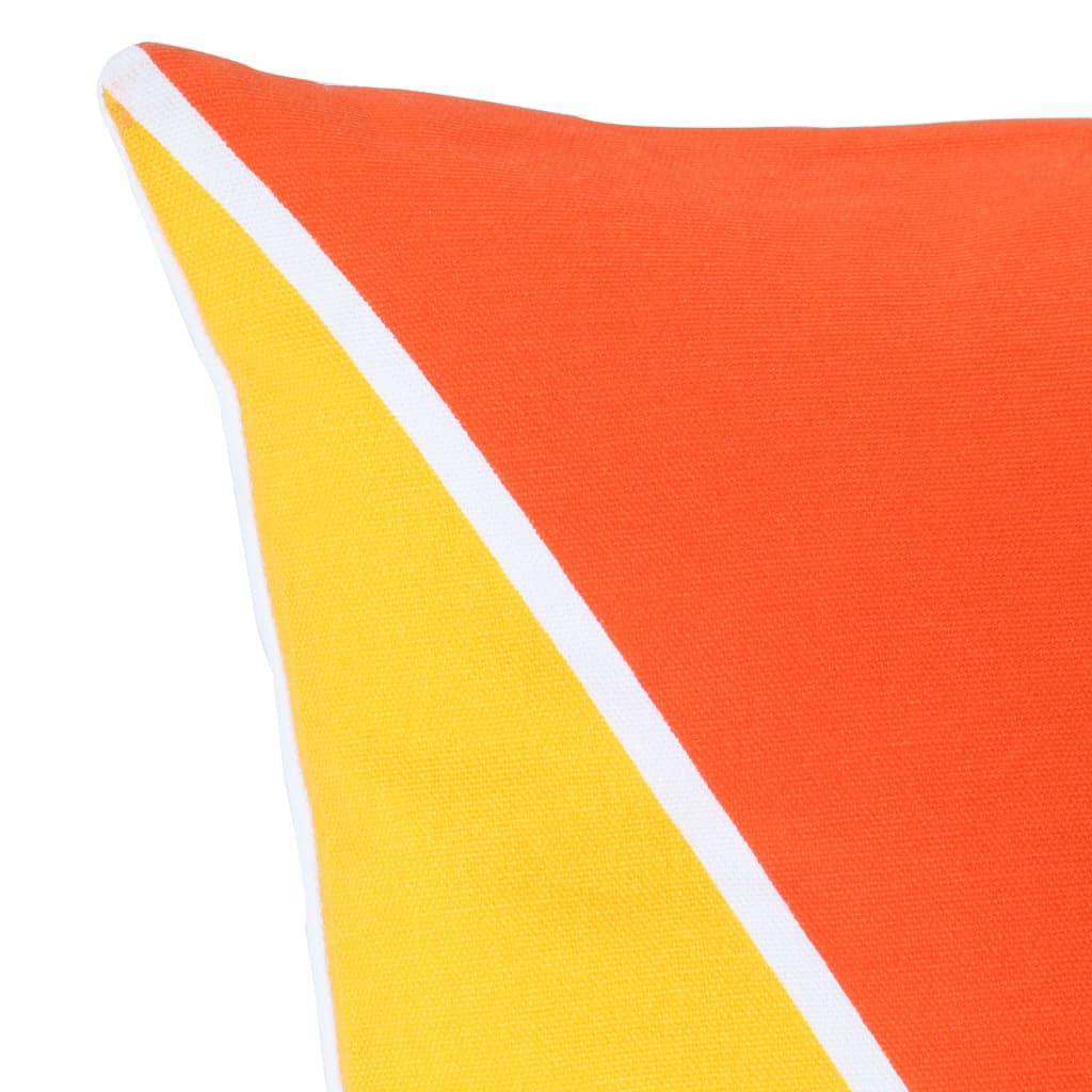 Lot de 2 coussins imprimés Vitamina Tissu Multicolore Motif triangle 40x40cm