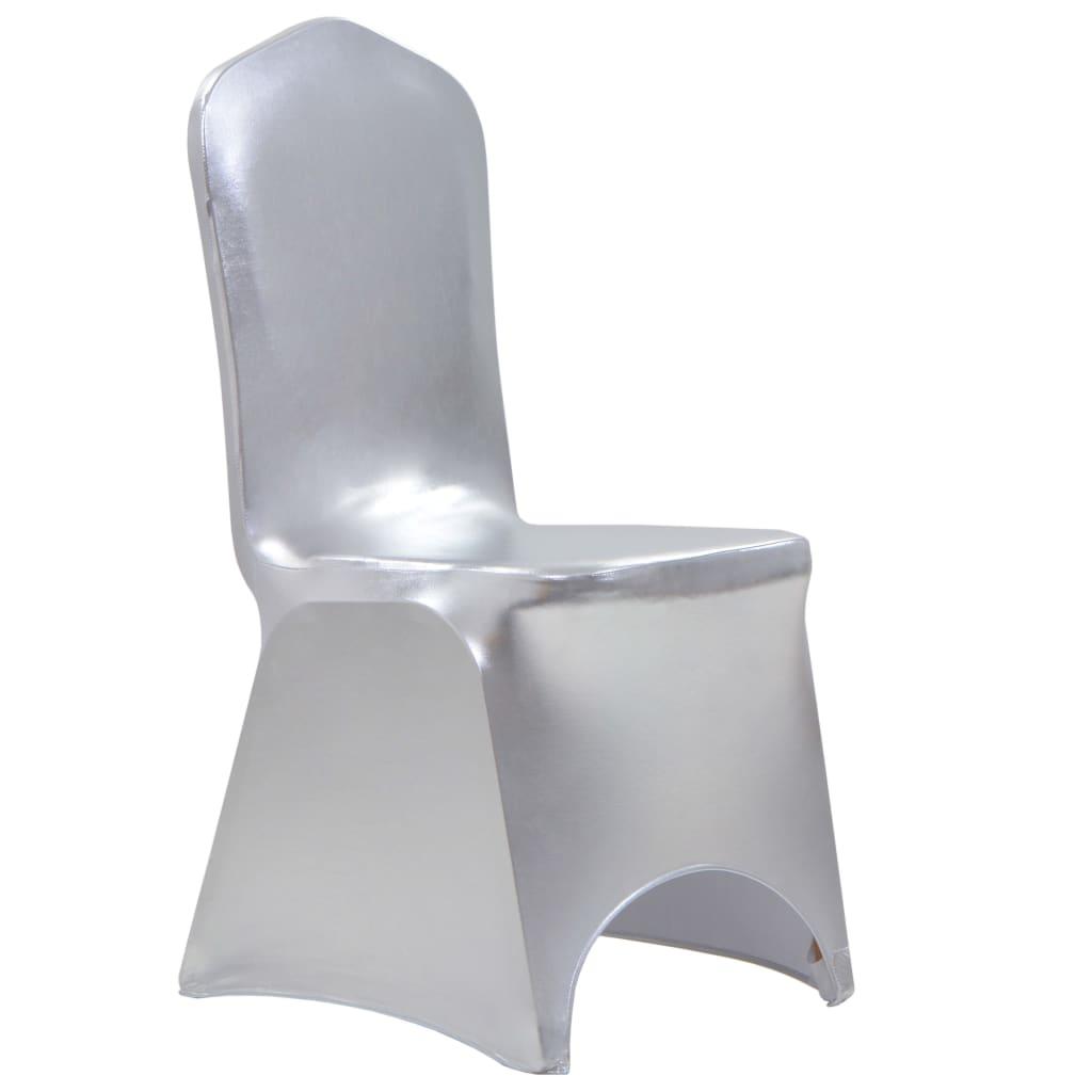 Lot de 25 Housses de chaise extensible Hellébore Tissu Argent