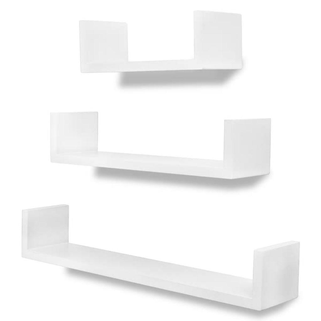 Lot de 3 étagères murales Mouron Blanc Mat