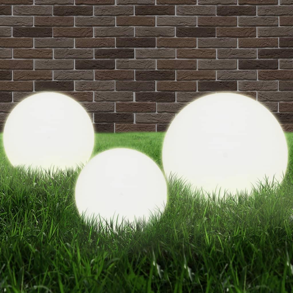 Lot de 3 Lampes LED Shampoignions Blanc