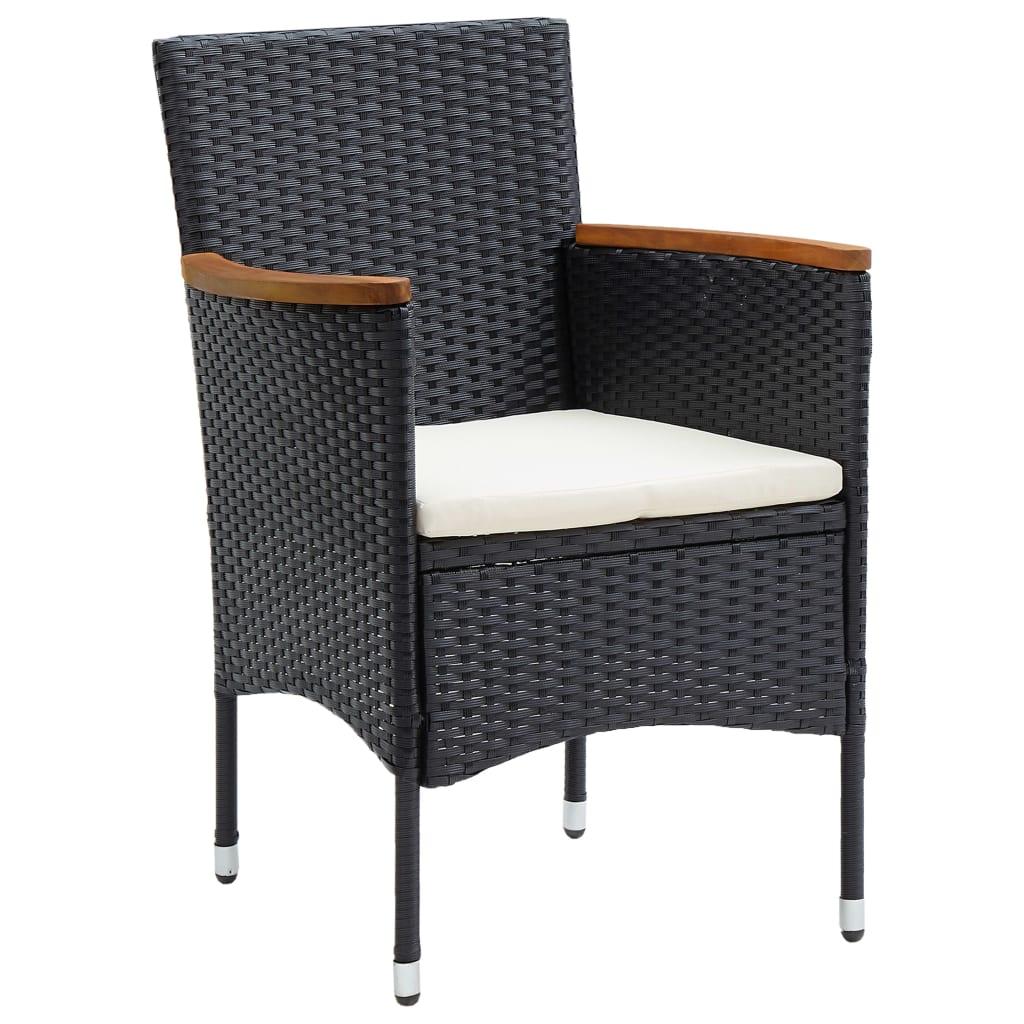 Lot de 4 chaises de jardin Abiel Résine tressée Noir