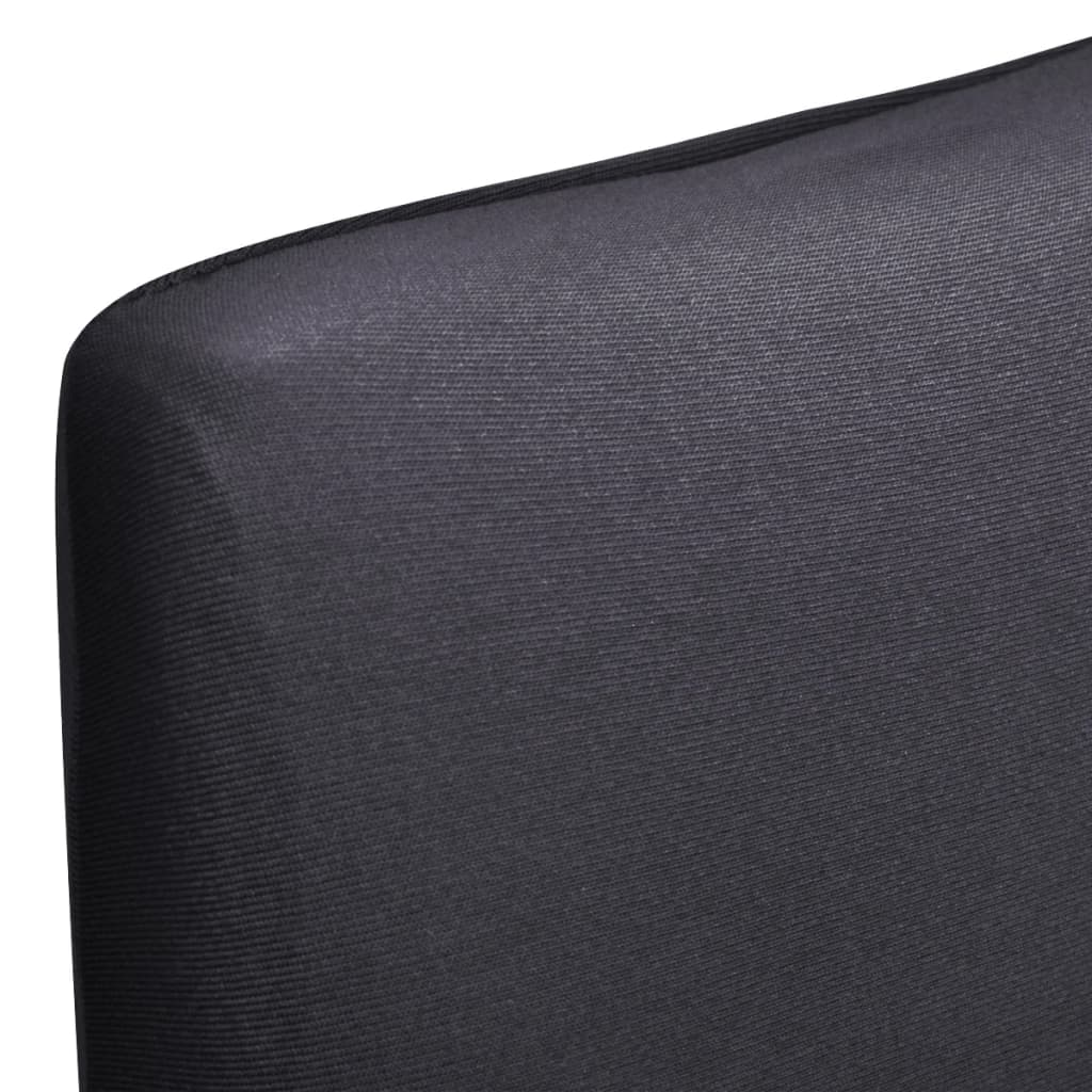 Lot de 4 housses de chaise extensible Gartempe Tissu Gris