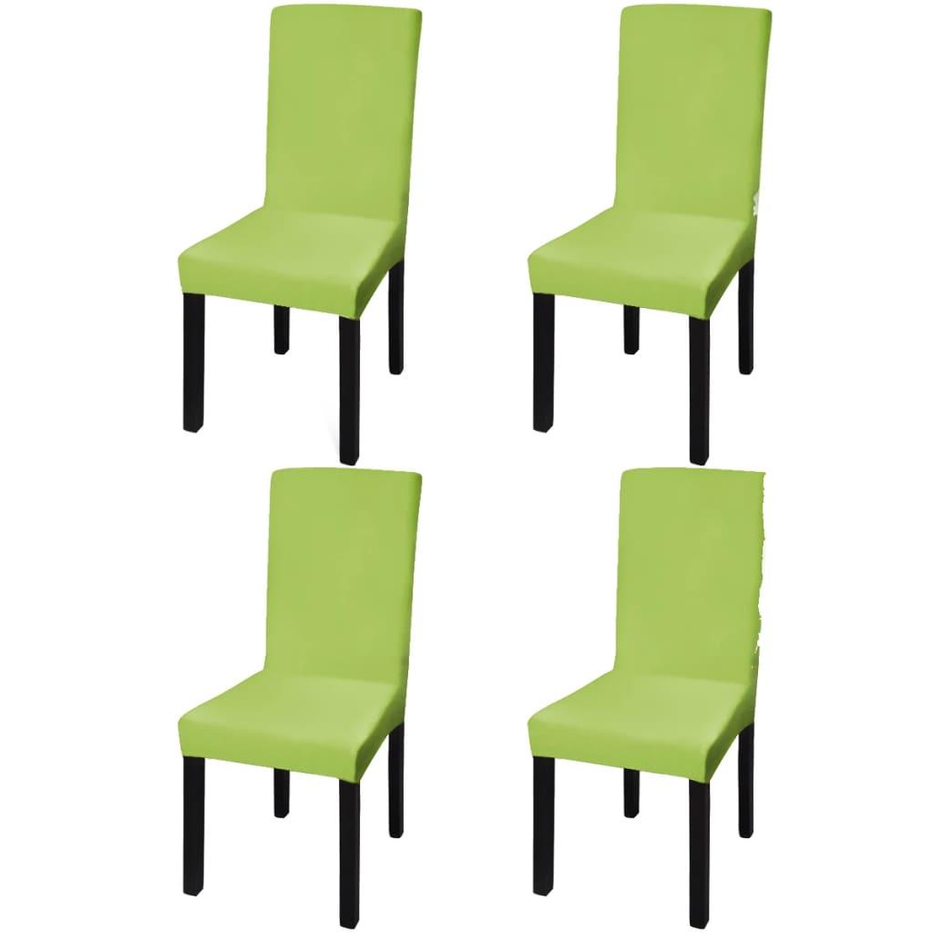 Lot de 4 housses de chaise extensible Gartempe Tissu Vert