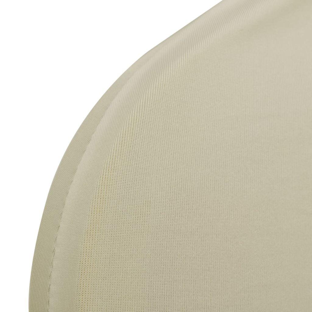 Lot de 6 Housses de chaise extensible Gagny Blanc Tissu Crème