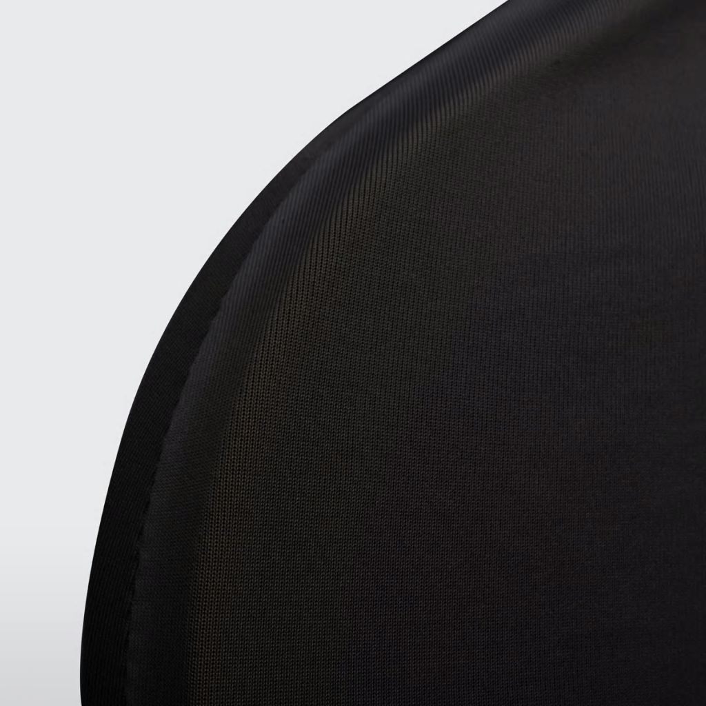 Lot de 6 Housses de chaise extensible Gagny Tissu Noir