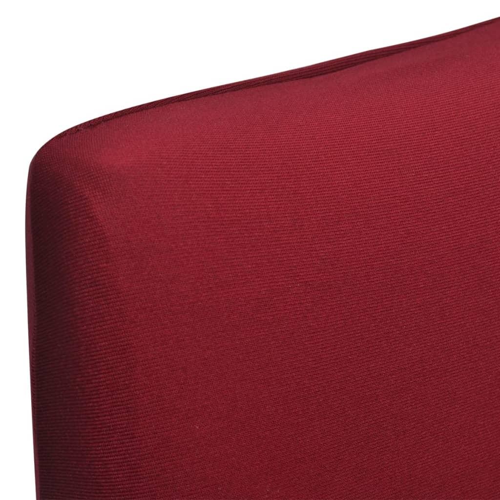 Lot de 6 housses de chaise extensible Gartempe Tissu Bordeaux