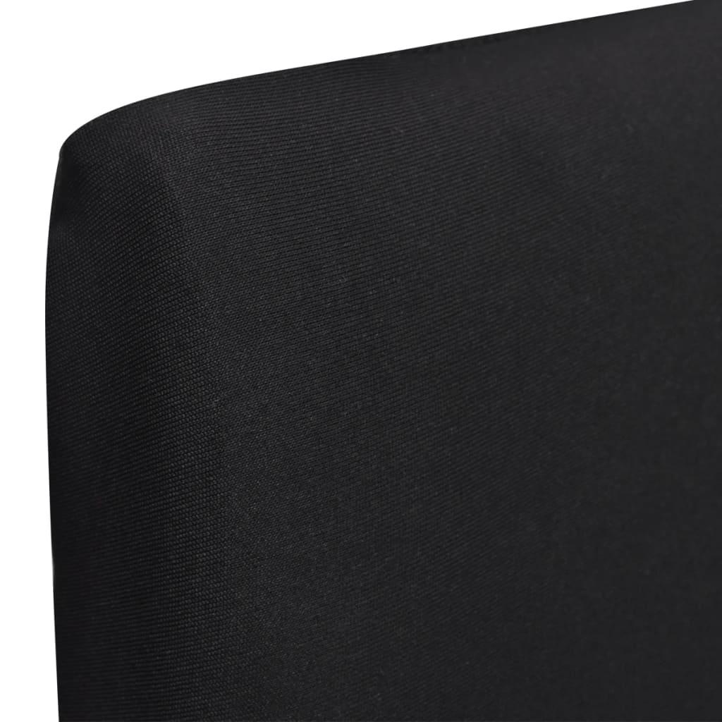Lot de 6 housses de chaise extensible Gartempe Tissu Noir