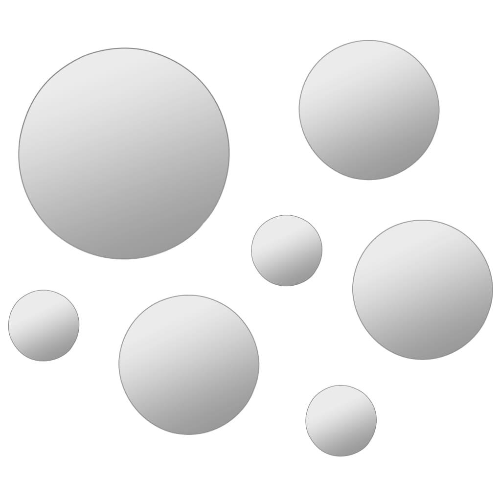 Lot de 7 miroirs adhésifs ronds Creteil Verre