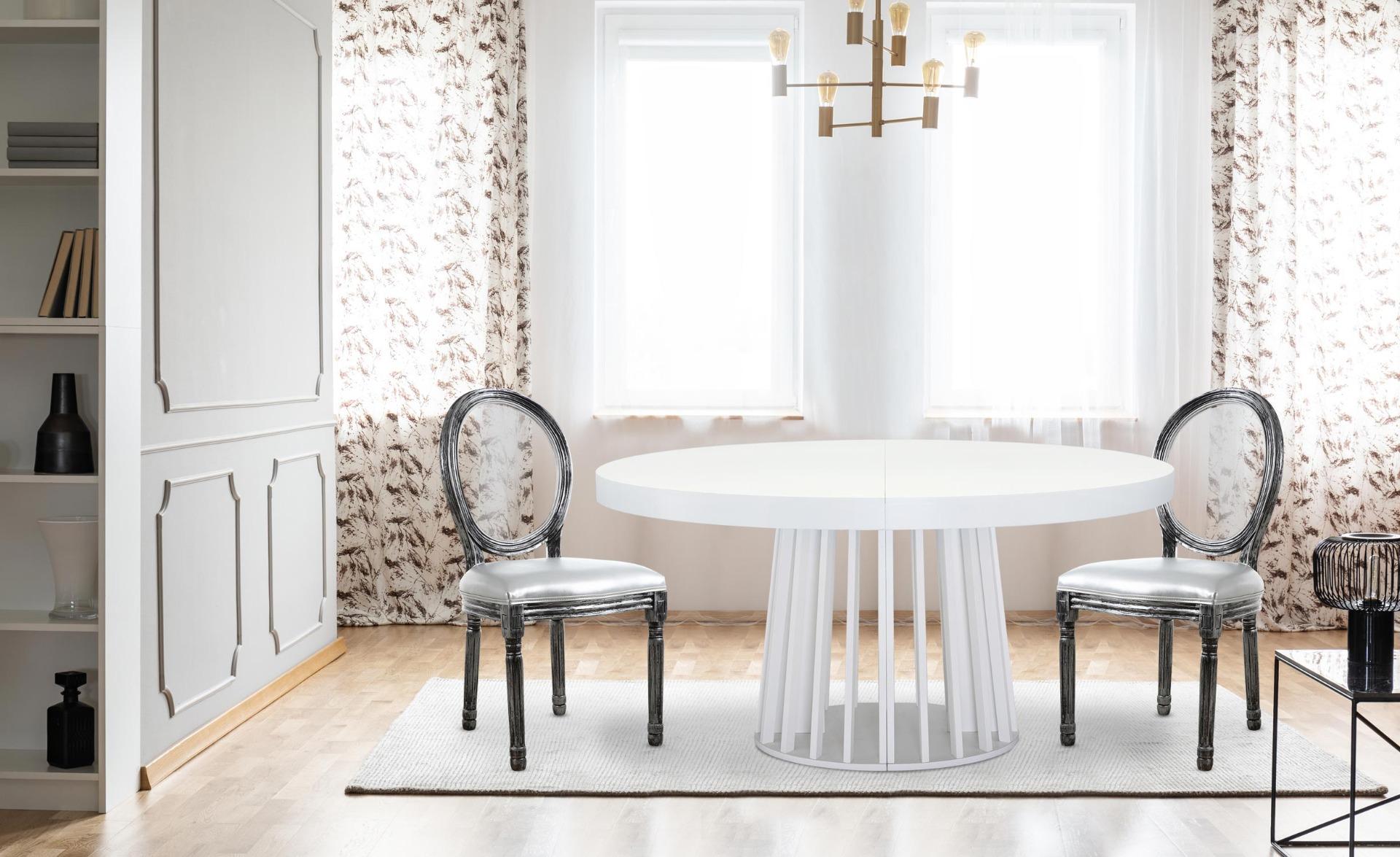 Lot de 2 chaises Louis XVI Glass Argent