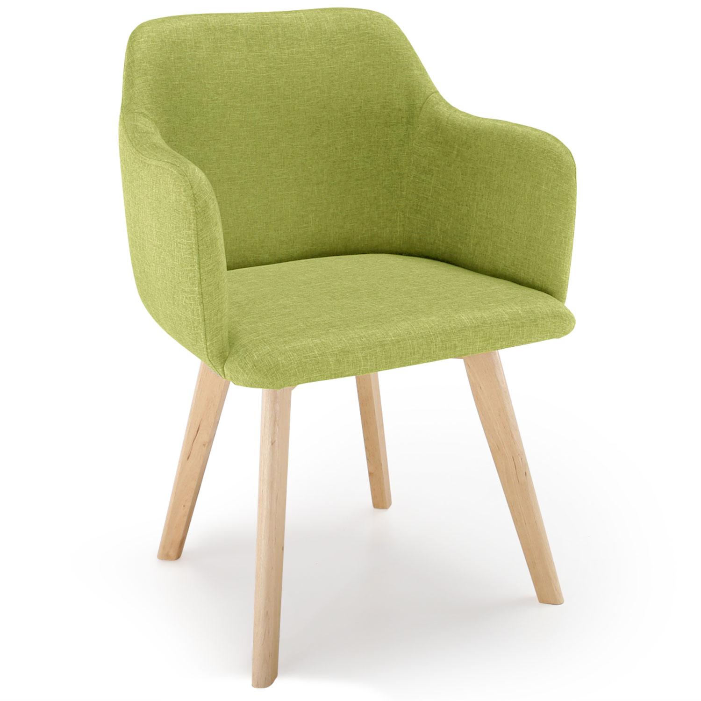 Chaise style scandinave Candy Tissu Vert Pistache