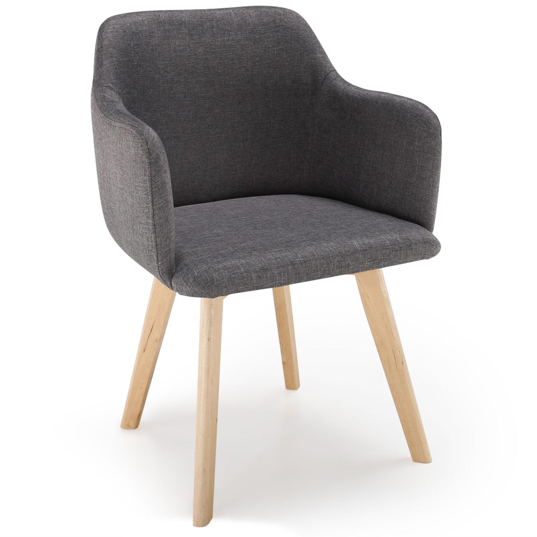 Chaise style scandinave Candy Tissu Gris Foncé