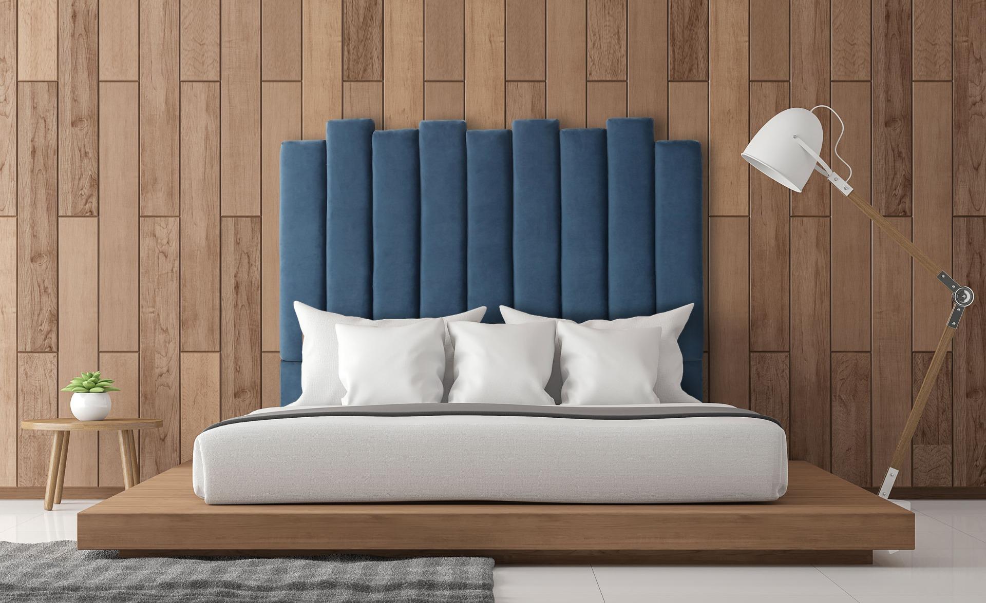 Tête de lit Lucky 140 cm Velours Bleu