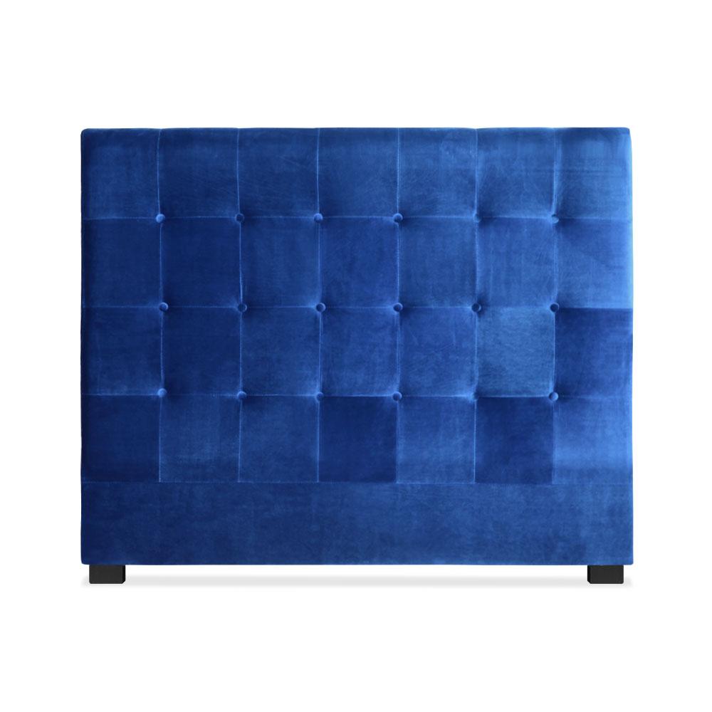 Tête de lit Luxor 140cm Velours Bleu
