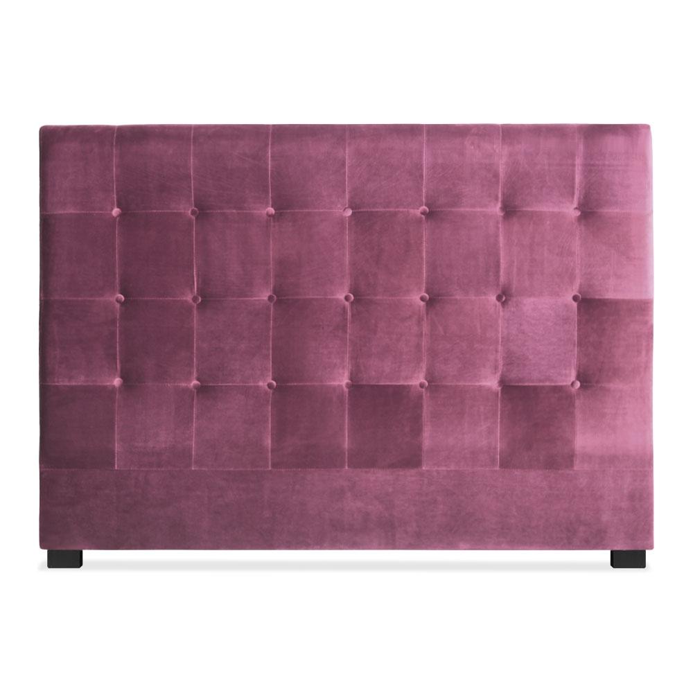 Tête de lit capitonnée pour lit au sommier de taille standard 160cm Luxor velours Violet