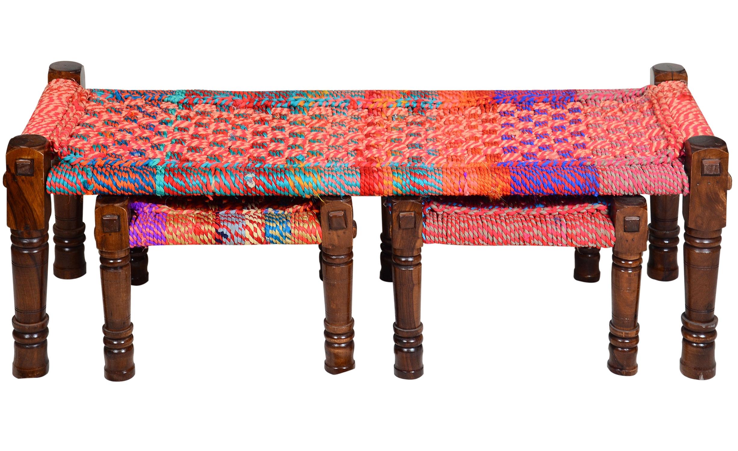 Banc Madura Tissu Multicolore